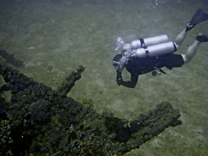 streamlined scuba on the San Quentin wreck, Subic Bay