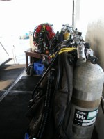 Wreck Diving Double Cylinders