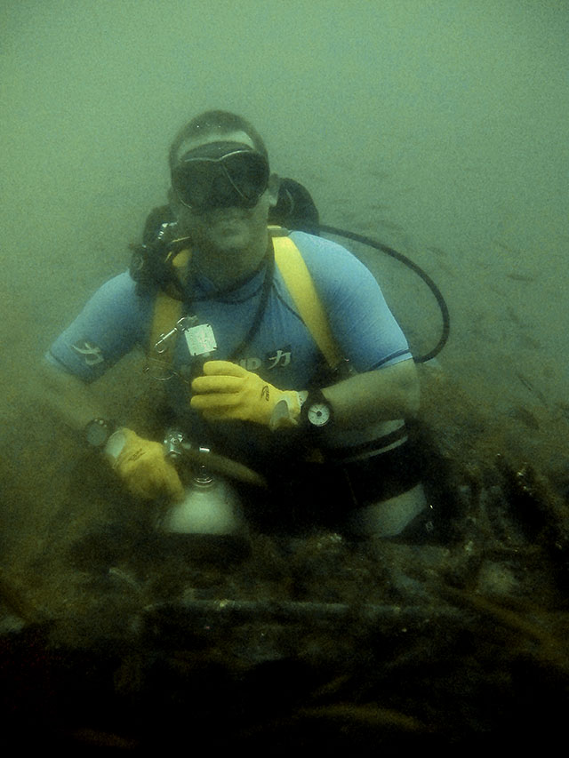 F4 Phantom wreck Subic Bay Technical Sidemount Course