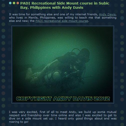 sidemount diver course philippines
