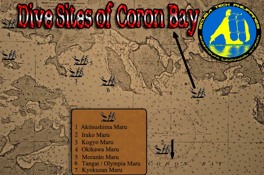 coron-wreck-diving-map shipwreck philippines