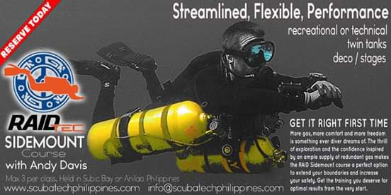 sidemount technical wreck course training philippines