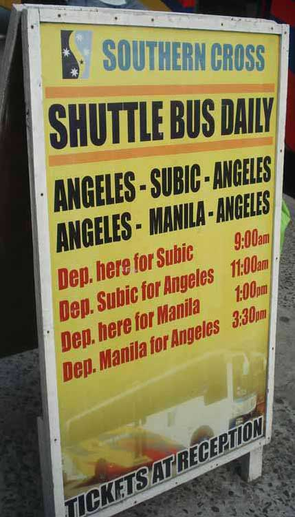 Southern Cross Buses Subic Bay Angeles