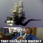 technical sidemount diving ron burgundy