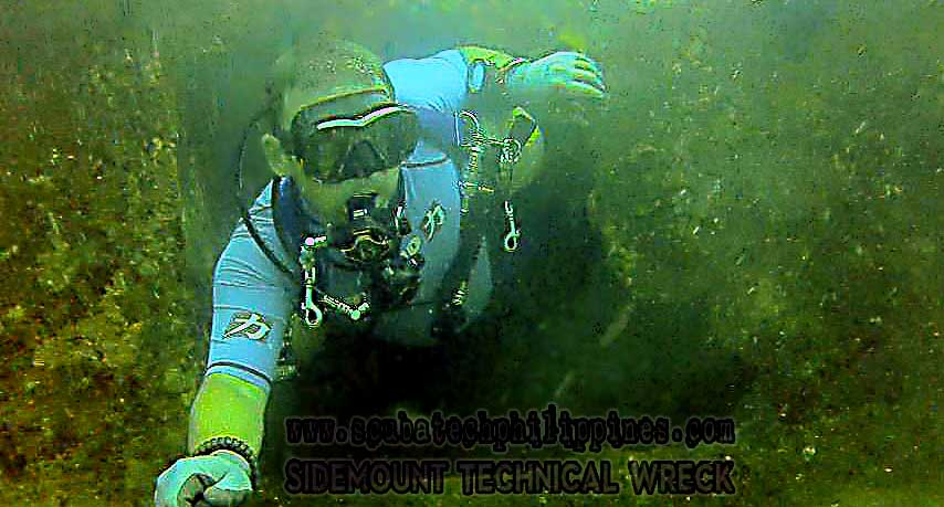 DIY sidemount configuration for wreck penetration