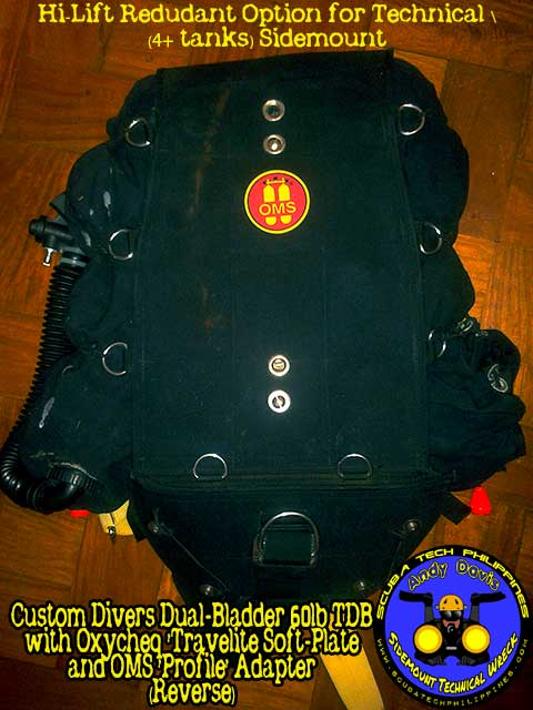 diy sidemount technical diving rig bcd harness system