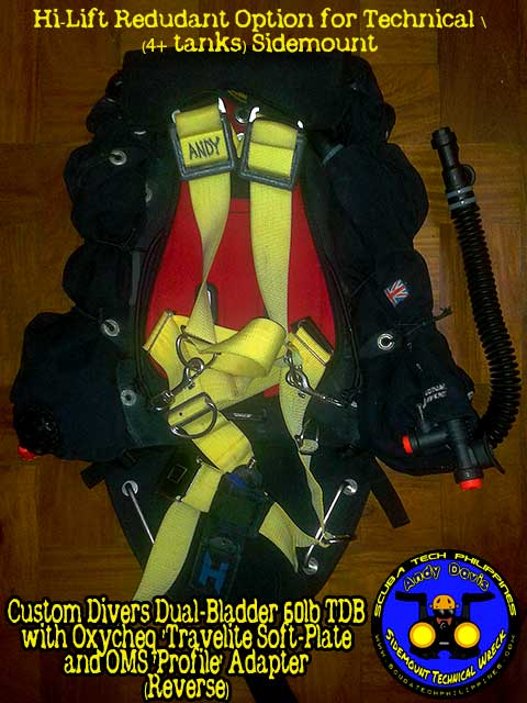 homemade diy technical-sidemount diving bcd harness