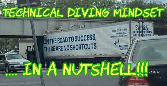 technical diving mindset