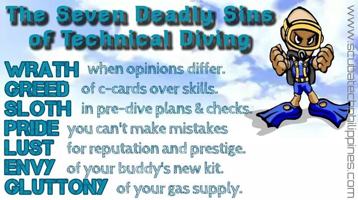 seven deadly sins of technical diving