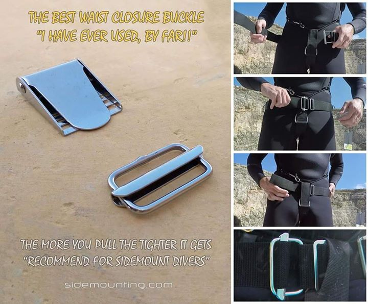 Sump UK Custom Sidemount Hardware 1 sliding belt buckle