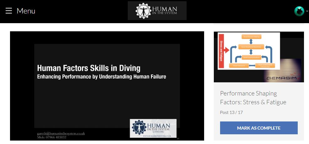 human factors in diving 4