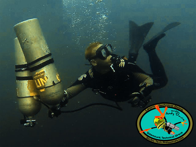 sidemount scuba diving training -philippines-subic