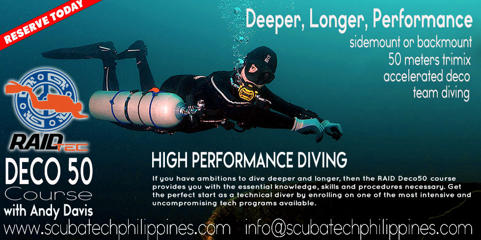 Sidemount Wreck Technical Diving Philippines Andy Davis RAID Courses