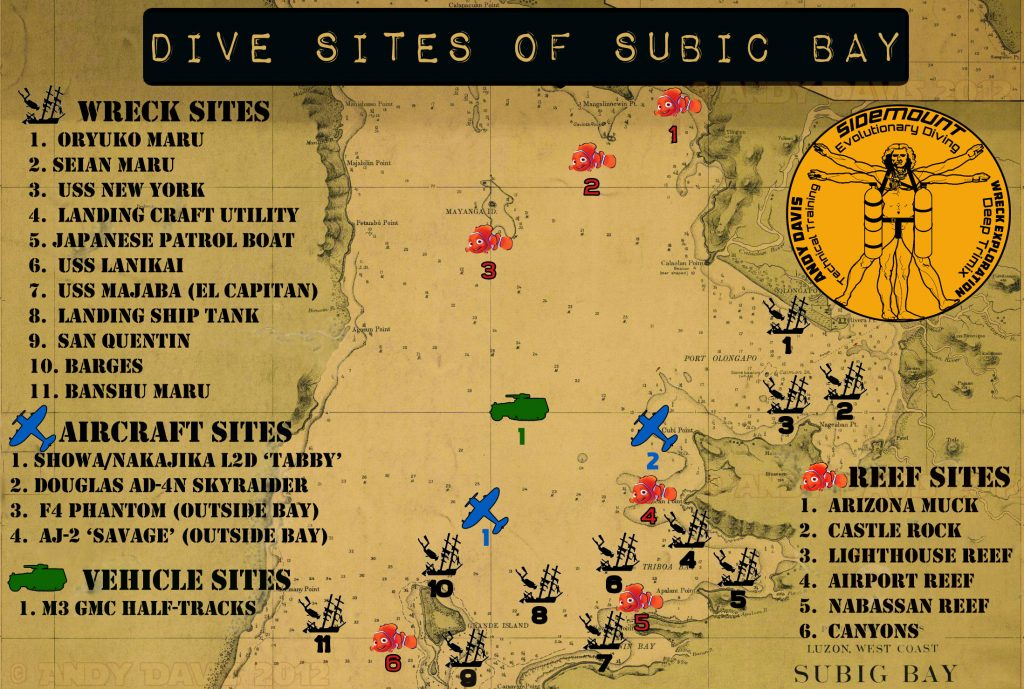 Subic-Bay-Wreck-diving-Map