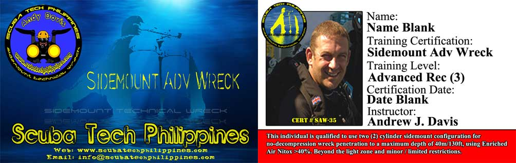 sidemount technical wreck courses subic bay philippines