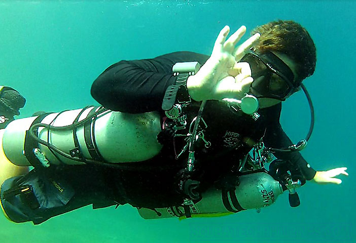 Sidemount technical diving instructor Philippines