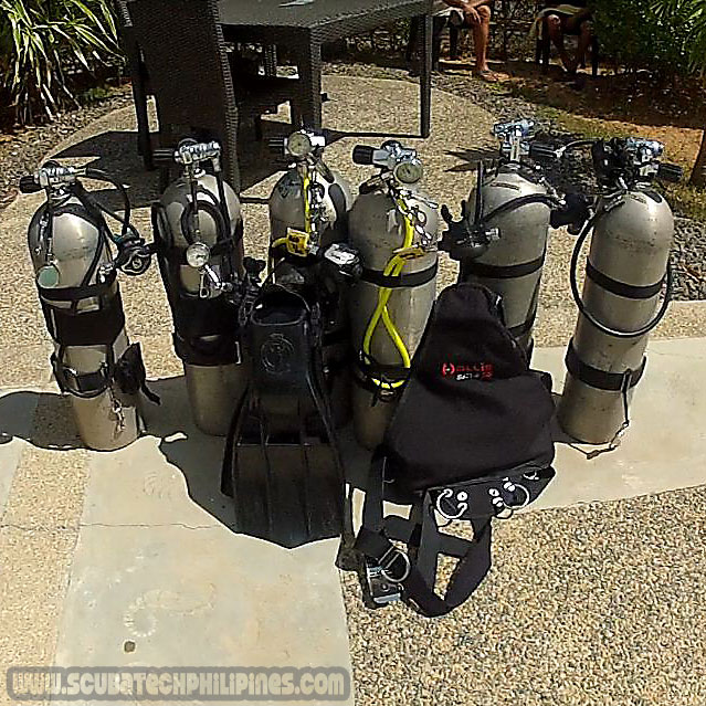 sidemount technical diving equipment philippines