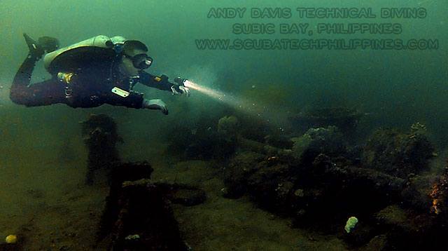 advanced technical wreck diving training asia